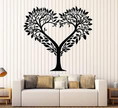 Amazon Com Vinyl Wall Decal Tree Heart Love Romantic Room Decor Stickers Large Decor Ig4063 Gold Metallic Home Kitchen