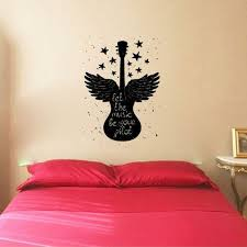 Harriet Bee Sneek Let The Music Be Your Pilot With Guitar Silhouette Vinyl Wall Decal Wayfair