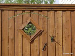 209 Gate With Metal Post And Fleur De Lis Insert See Thru Fence Max Texas