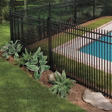 Oxford Black Metal Fence Panels At Lowes Com