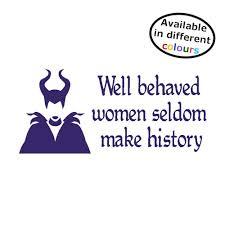 Maleficent Vinyl Sticker Well Behaved Wo Buy Online In Guernsey At Desertcart