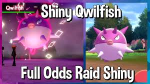 Full Odds Raid Shiny Qwilfish!!! || Pokemon Sword and Shield Shiny ...