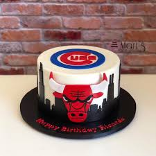 Chicago Bulls And Cubs Birthday Cake Mari S Boutique Cakes Facebook