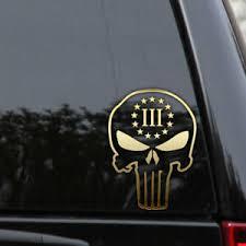 Punisher Three Percenter Decal Sticker 3 Percent Car Truck Window Laptop Ebay
