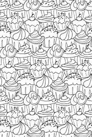 Cupcakes Kleurplaten Kleurplaten Voor Volwassenen En Kleurboek