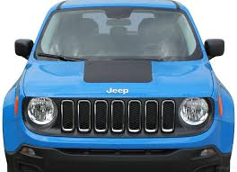 2014 2020 2021 Jeep Renegade Trailhawk Hood Decal Stripe Vinyl Graphic Auto Motor Stripes Decals Vinyl Graphics And 3m Striping Kits
