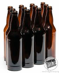 22 oz beer bottles amber 12 per case