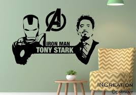 Iron Man Tony Stark Wall Decal Superhero Children Room Vinyl Wall Sticker Gift Ebay