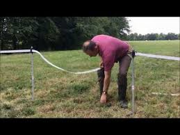 Adding A Gate Into Tape Electric Fence Youtube