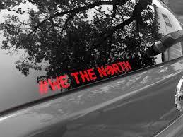 Raptors We The North Sticker Decal Toronto Car Laptop Phone Etsy