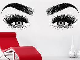 Eyelashes Wall Decal Eyelash Decal Lashes Decal Beauty Salon Salon Decals Eyelash Decal Salon Decor