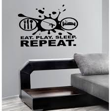 Shop Eat Sleep Repeat Science Wall Art Sticker Decal Overstock 11661288