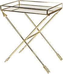 laurel madeira arrow metal accent table