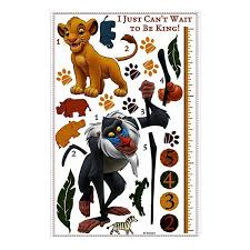 Disney The Lion King Growth Chart Wall Decal By Roommates