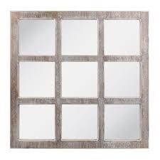 worn white 9 panel window pane