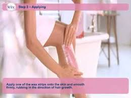 how to use veet s hair removal wax