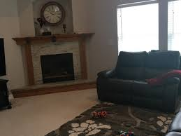 paint fireplace very dark brown or white