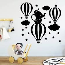 Cartoon Elephant Wall Sticker For Kids Room Decor Stickers Vinyl Wallpaper For Baby Room Boys Room Decor Wall Decal Wall Stickers Aliexpress