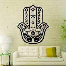 Shop Hamsa Hand Eye Amulet Floral Mandala Home Art Vinyl Decal Sticker Bedroom Decor Sticker Decal 44 X 60 Color Black Overstock 15383305