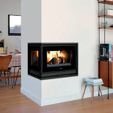 wood burning fireplace insert double