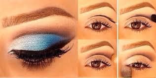 blue eyeshadow makeup tutorial