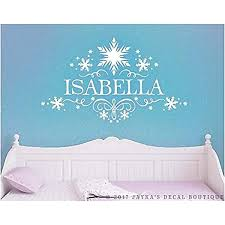 Amazon Com Susie85electra Personalized Frozen Snowflakes Name Wall Decal Home Kitchen