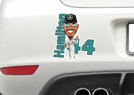 Lewis Hamilton Hi 5 Formula 2 Motor Car Racing Decal Sticker Window Or Bumper Ebay