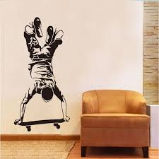 Inverted Skateboard Wall Sticker Kids Room Background Mural Decals Home Decors Ebay