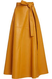 yellow women s leather skirts