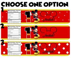 Personalizado Etiquetas De Las Botellas De Agua Mickey Mouse