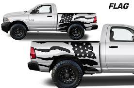 Dodge Ram 1500 2500 2009 2018 6 5 Bed Vinyl Decal Kit Usa Flag Factory Crafts