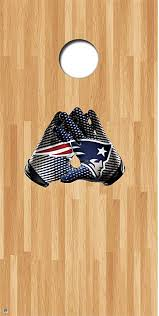 Amazon Com 1stopfanshop Patriots Cornhole Decals Cornhole Board Decals Patriots Glove Kitchen Dining