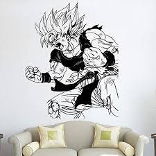 Amazon Com Dragon Ball Z Wall Decal Bedroom Dbz Goku Removable Vinyl Wall Decal For Kids Room Goku Wall Art Decals 57x71cm Baby