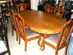 glass top modern wooden dining table