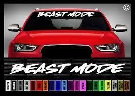 40 Beast Mode 2 Jdm 4x4 Lifted Truck Muscle Car Decal Sticker Windshield Banner Ebay