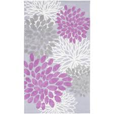 Floral Purple And Gray Kids 8 Foot Runner Rug Abigail Rc Willey Furniture Store