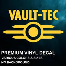 Vault Tec Fallout Premium Vinyl Decal Sticker Xbox Ps4 Pc Car Various Color Ebay