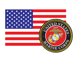 American Flag With Marine Corps Seal Usmc 3 22x5 Vinyl Decal Sticker For Cars Trucks Laptops Etc Morale Tags