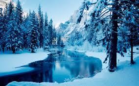 تحميل خلفيات الثلج الأزرق المناظر الطبيعية في فصل الشتاء الشتاء