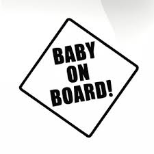 Baby On Board Car Decal Sticker Stickyart