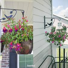 Outdoor Garden Home Hanging Basket Wrought Iron Easy Install Fence Trees Plant Bracket Hanger Shopee Philippines