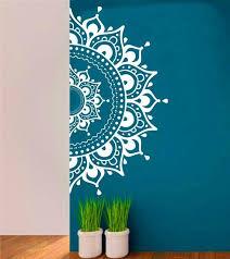 Mandala Wall Decal Sticker Half Mandalayoga Om Namaste Yoga Etsy Mandala Wall Art Yoga Decor Yoga Wall Art