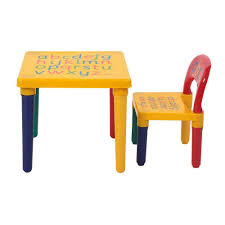 Table Chair Set Kids Wooden Desk Play Room Child Toddler Furniture Lightweight For Sale Online Ebay