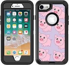 Amazon Com Teleskins Protective Designer Vinyl Skin Decals Stickers Compatible With Otterbox Defender Iphone 8 Iphone 7 Case Cute Pig Pattern Design Patterns Only Skins And Not Case