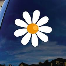 Daisy Flower Car Window Vinyl Decal Sticker 6 Tall