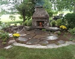 outdoor stone patios garden designs