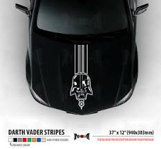 37 Darth Vader Dark Side Star Wars Hood Stripes Car Vinyl Sticker Decal Ebay