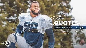 Quotes & Notes 8/8: Aaron Donald views Rams' second joint practice ...