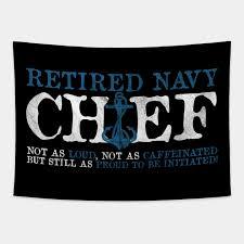 retired navy chief navy tapestry