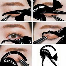makeup beauty cat eye line template